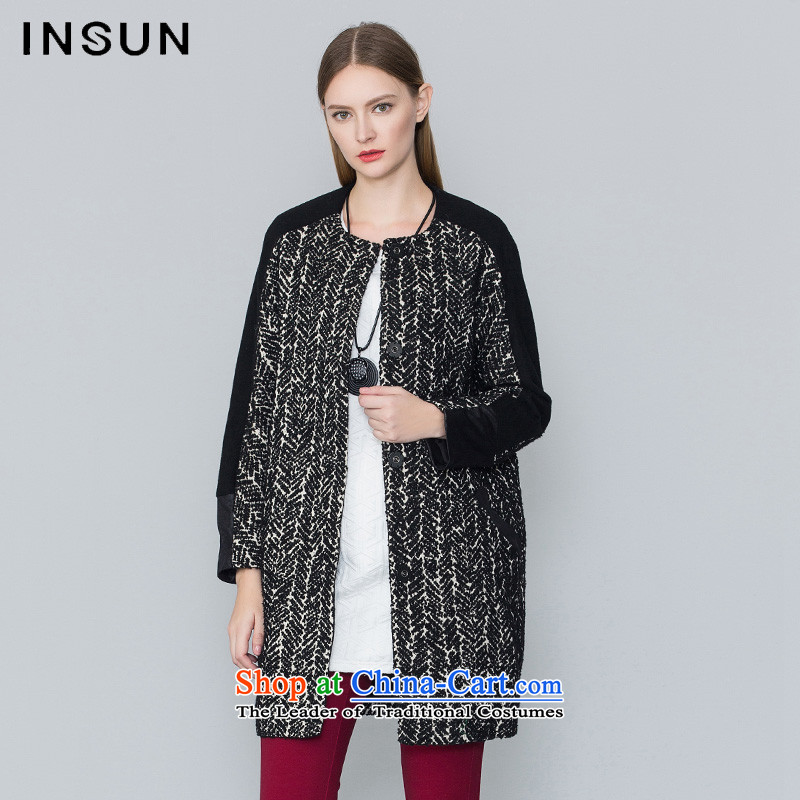 The Advisory Committee Yan 2015 INSUN autumn and winter new products market with new product designs western coats of art? jacket female 94680270 gross black 38