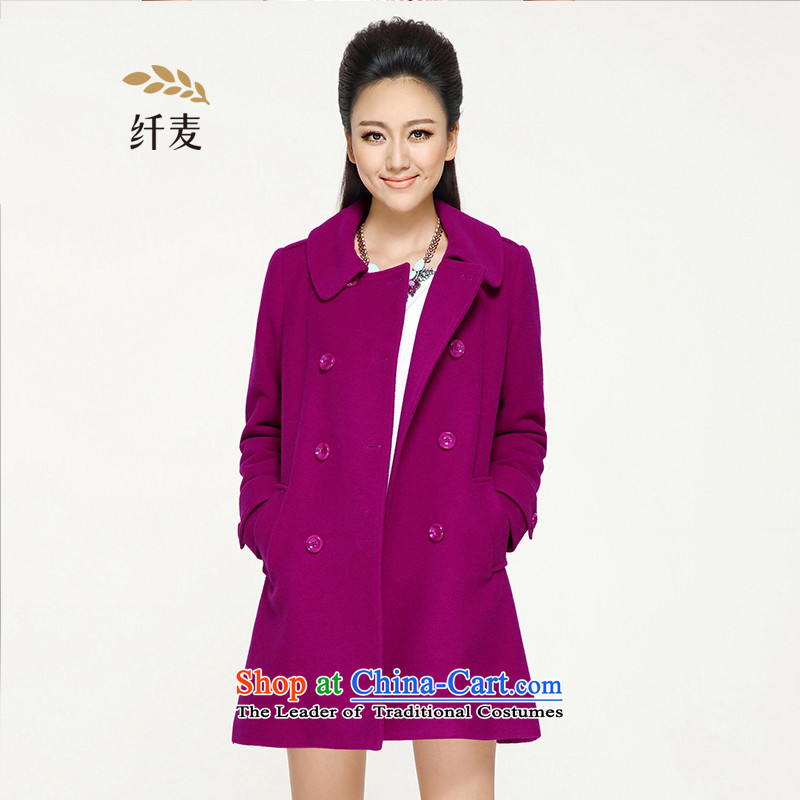 The former Yugoslavia Mak 2015 autumn and winter large new women's gross jacket for winter expertise is in mm long double-jacket coat 43178 so gross red XL