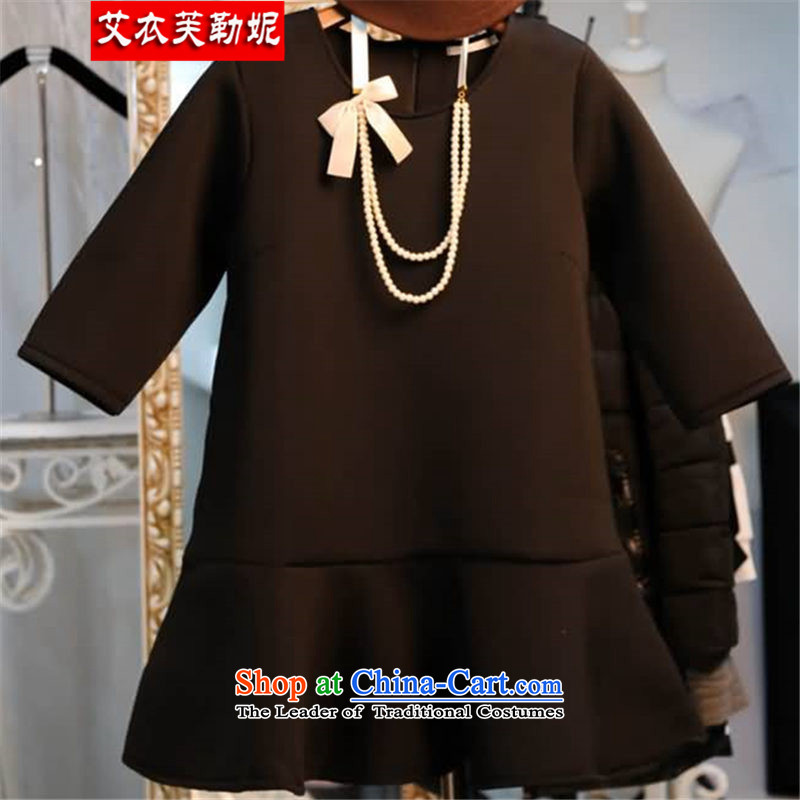 Hiv Yi burfitt toload the spring and summer of 2015, the new liberal women's larger dresses to fit 200 catties MM Air layer hundreds pleated skirtsXXXL black 165--200 Part Number 9912 catties