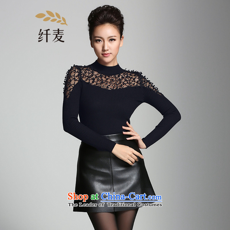 The former Yugoslavia Migdal Code women 2015 winter clothing new stylish mm thick shoulder fluoroscopy forming the knitwear944136215black2XL