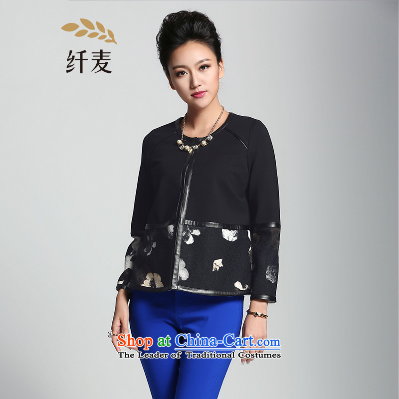 The former Yugoslavia Migdal Code women 2015 Spring new stylish Korean mm thick stamp short jacket,燽lack�L 951042401