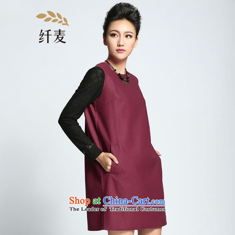 The former Yugoslavia Migdal Code women 2015 Autumn replacing new stylish zipper video thick mm thin sleeveless dresses�1104857燾hestnut horses�L