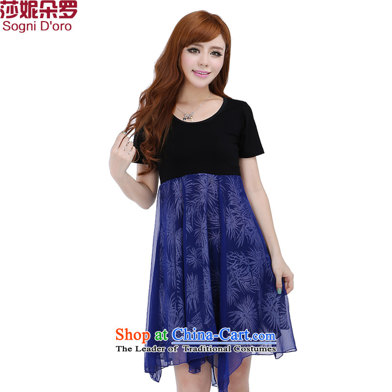 The latte macchiato, Shani to increase women's code for summer 2015 mm thick snow woven dresses 6,261 5XL Pattern