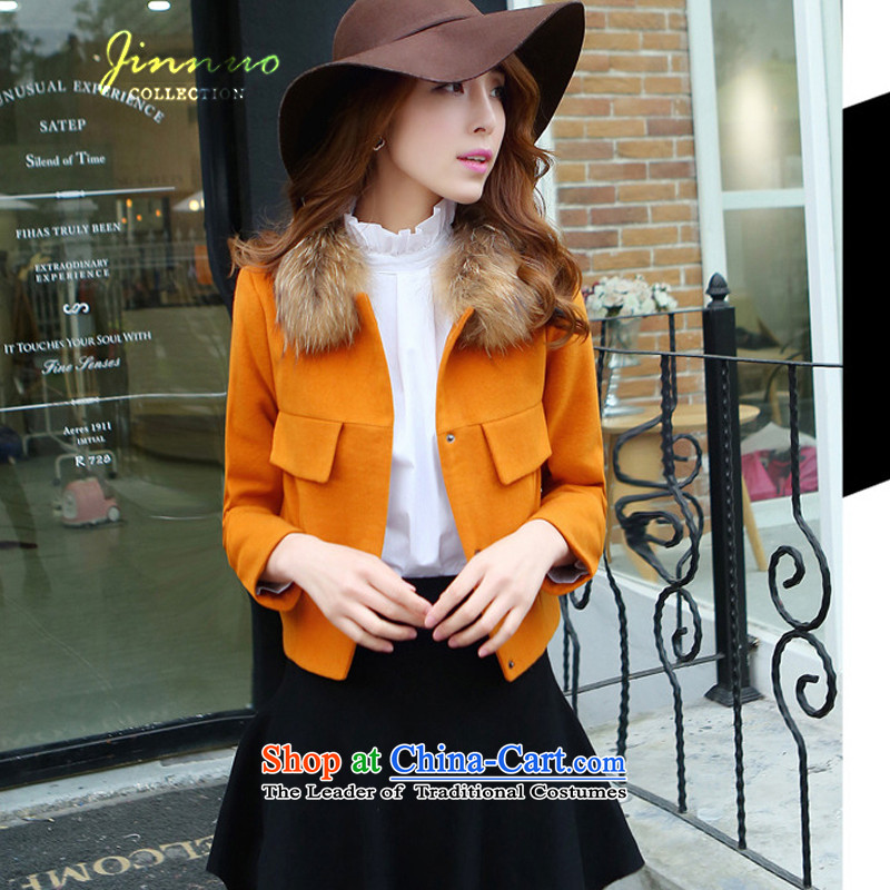 The world of Kam Yuet lovely sweet Sau San video thin spring 2015 new stylish and elegant short, pocket campaign really sub Gross Gross red collar? a Kampala shoulder jacket turmeric?M