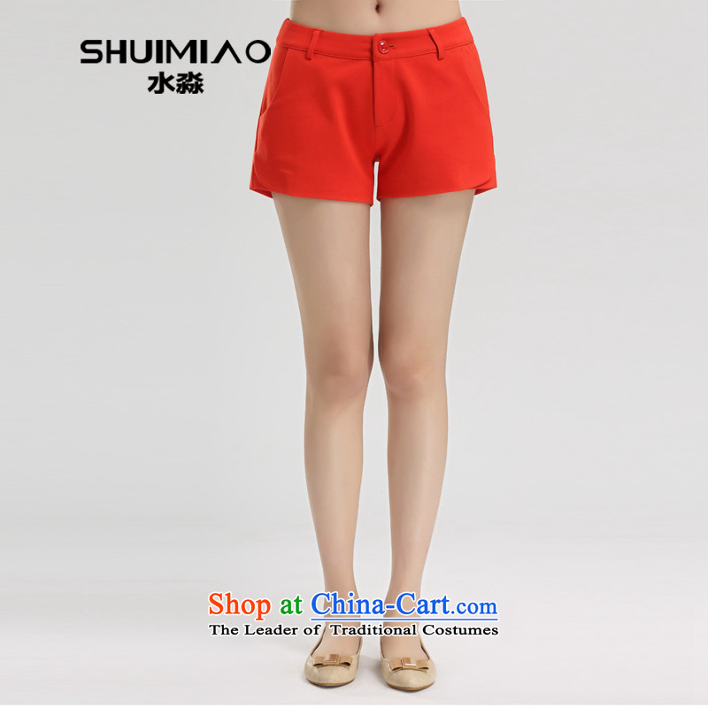 By 200 catties of water yards women 2015 spring outfits Korean large leisure stretch shorts S15CT4690 RED燲XL