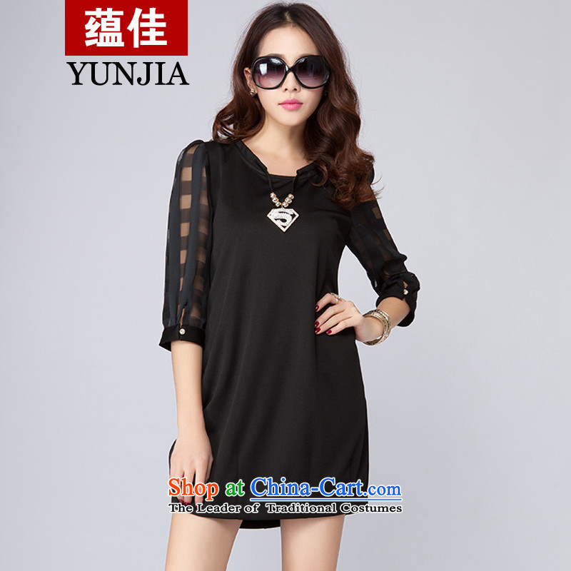 To better spring 2015 new ventricular hypertrophy code women thick mm grid dresses children 7 cuff lanterns skirt classic black - Buy It Now to the necklace? 2XL