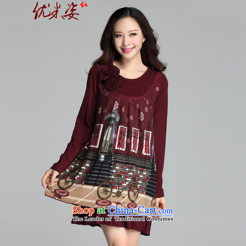 Gigi Lai to optimize m xl spring new dresses and stylish relaxd of leisure shade long-sleeved shirts and poverty mm female skirt sheep to stamp C.O.D. BOURDEAUX?4XL