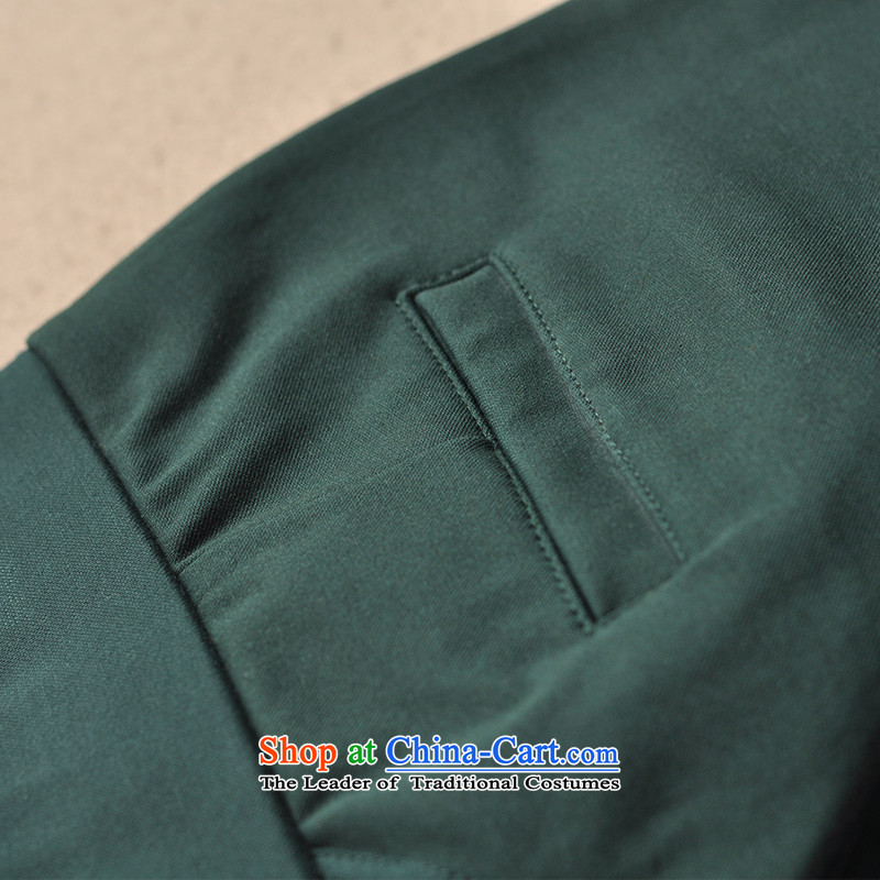 The spring and summer of 2015 set crescent new casual pants female thick elastic waist stretch of the Sau San mm ladies pants, through extra-forming the dark green trousers 30 female crescent set , , , shopping on the Internet
