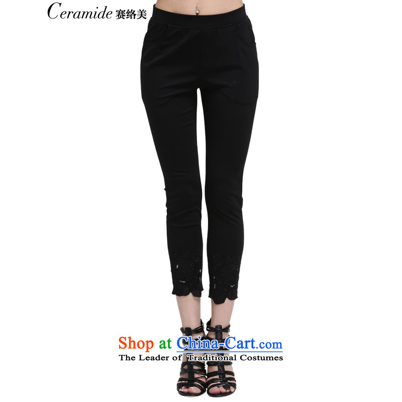 In the autumn of 2015, the US Liaison new larger female thick sister to increase female casual pants loose trousers, forming the basis of Sau San video thin black M-38 651105033