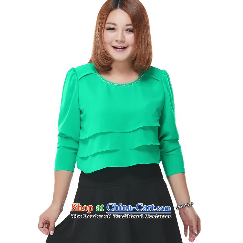 Xl female chiffon shirt?5XL green T-Shirt