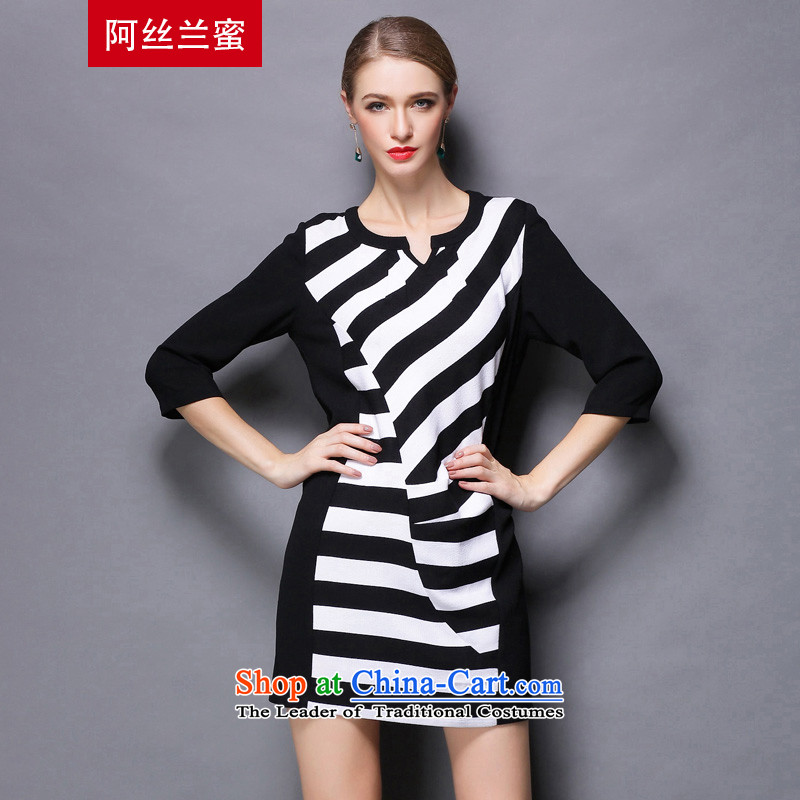 Of the Yucca honey xl thick MM THIN autumn replacing large video code women knocked stripe spell a series of dresses ZZ1811�L_150 black catty - 164 catties through_
