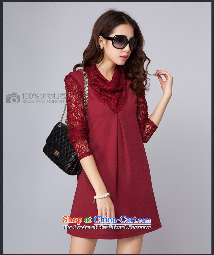 Large ZORMO women fall inside lace stitching long-sleeved dresses thick mm spring and autumn, forming the basis for larger apron skirt black XXXL 145-160 catty picture, prices, brand platters! The elections are supplied in the national character of distribution, so action, buy now enjoy more preferential! As soon as possible.