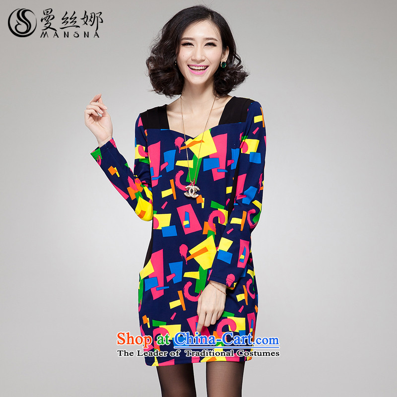 The population of the Cayman larger female thick mm autumn 2015 replacing thick version Korea sister thin colored stamp long-sleeved dresses map color�L