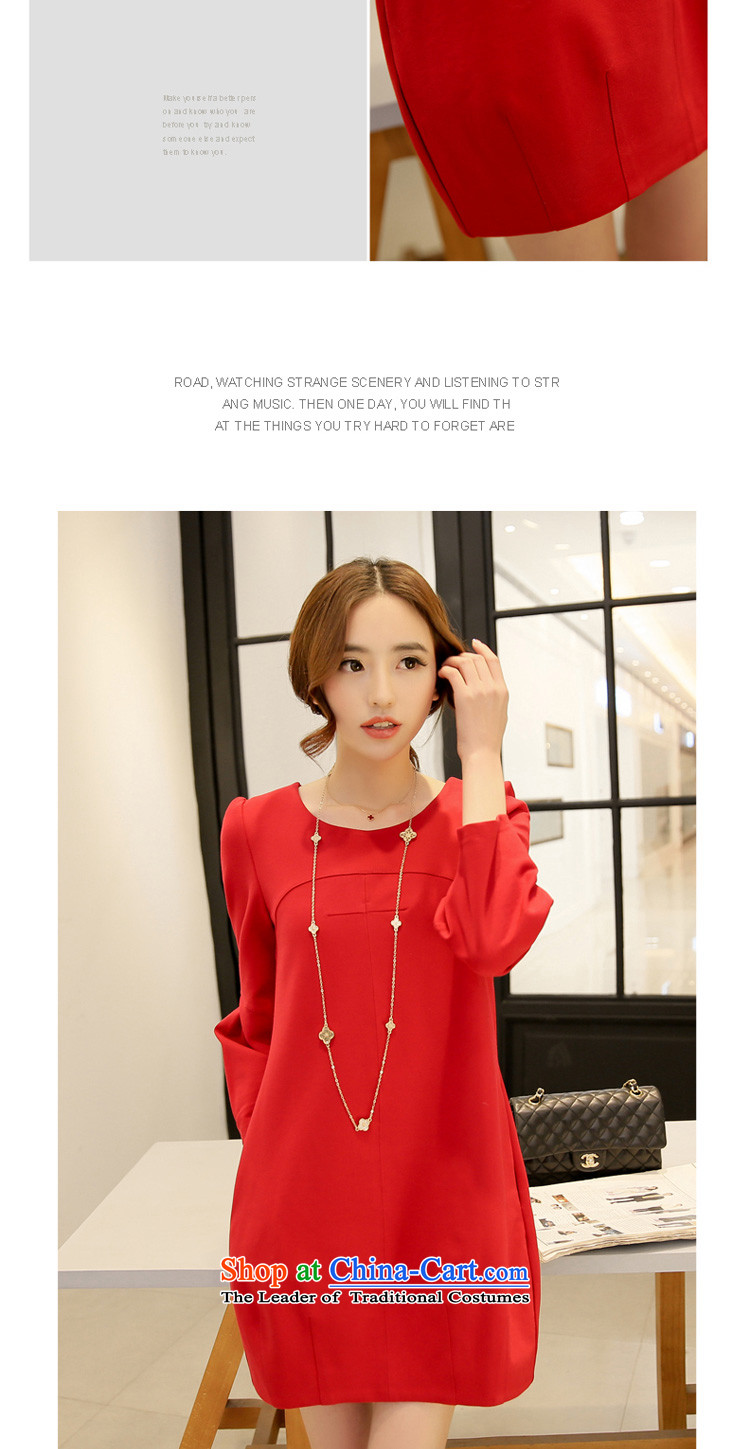 In accordance with the perfect聽spring 2015 new fat mm larger female Korean round-neck collar stereo stitching large red relaxd dress聽Y2039聽red聽XXL picture, prices, brand platters! The elections are supplied in the national character of distribution, so action, buy now enjoy more preferential! As soon as possible.