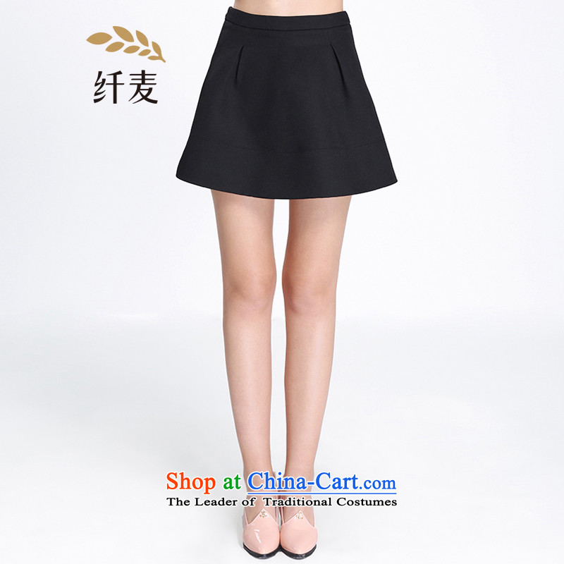 The former Yugoslavia Migdal code load spring 2015 girls new stylish loose video thick mm thin body skirt female?black?3XL 651252072