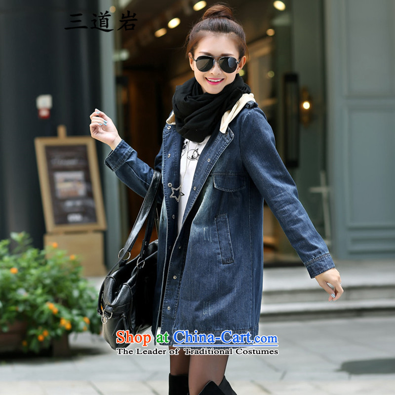 3 new spring and autumn 2015 rock loaded Western Wind extra large king chest code women cowboy jacket coat DM992 Denim blue capS