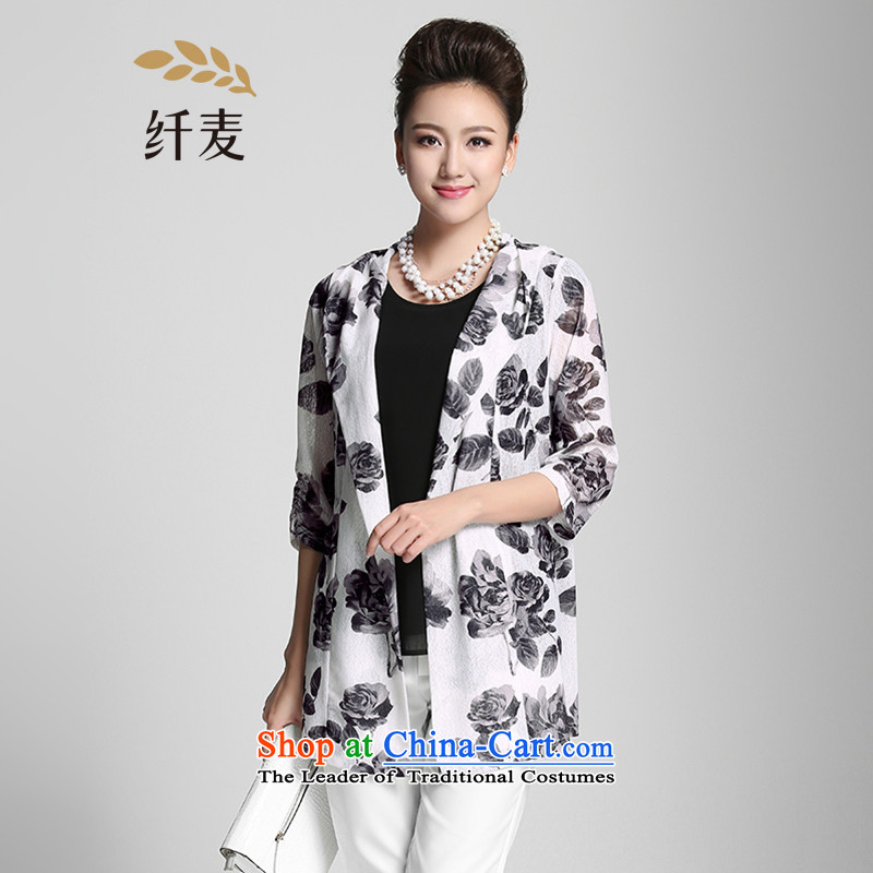 The former Yugoslavia Migdal Code women 2015 Summer new thick mm Korean stamp of 7 to 952041465 light jacket cuff3XL Gray
