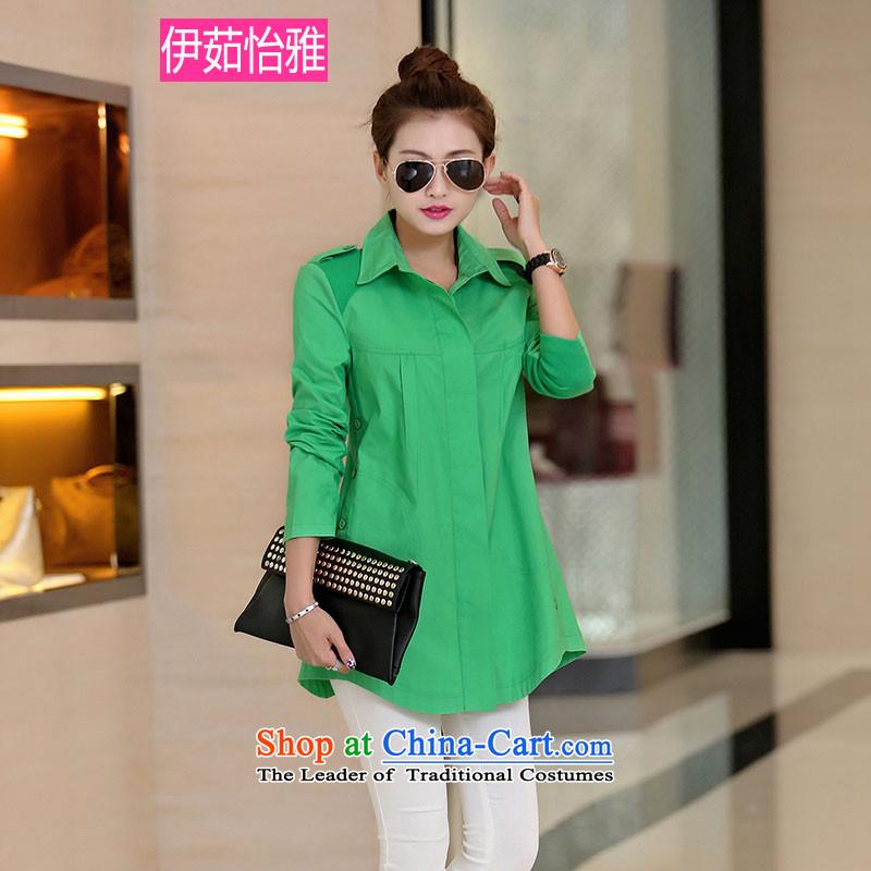 El-Ju Chun Yee Nga boxed long-sleeved Sleek and versatile thick girls' Graphics thin, cotton shirt YZ5083 women's code GreenM
