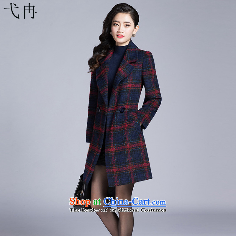 Cruise in the autumn of 2015, more new large for women in women's mother in the body of the decoration latticed N578 gross? coats of燲XXL red