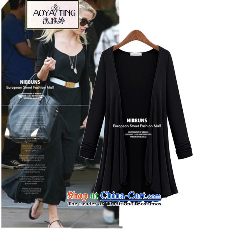 O Ya-ting 2015 new to xl Women Korean thick mm in length, Knitted Shirt Cardigan jacket female 12-31 black 5XL 175-200 recommends that you Jin