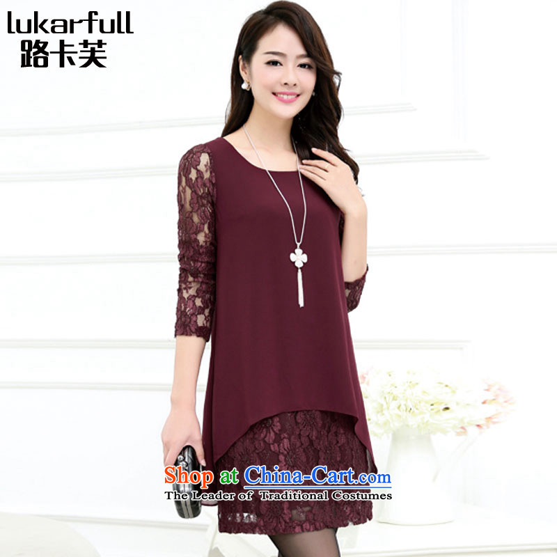 Card stock with the new 2015 fall thick girls' Graphics thin_ lint-free large Thick爌urple color A0041 women _thick_ 3XL