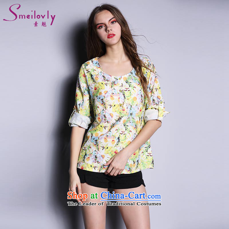 Of staff to increase the burden of 200 yards women thick MM spring loaded 2015 new stamp Long-Sleeve Shirt loose students 1668 picture color large code XL around 922.747 120