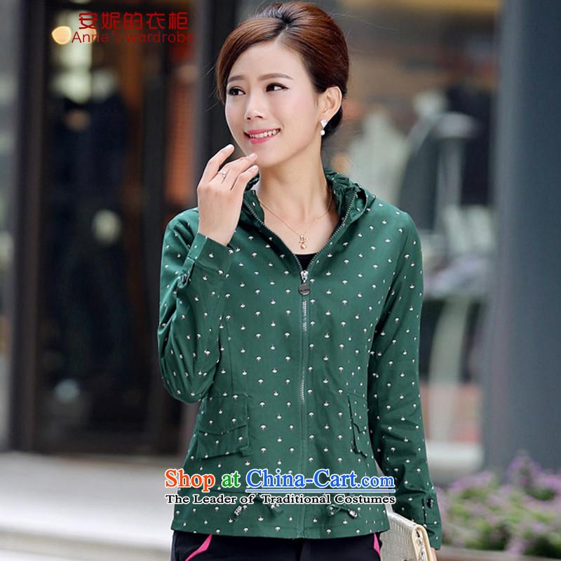 Anne's wardrobe autumn 2015 on women's larger jacket燳S9001 female燼rmy green燲L