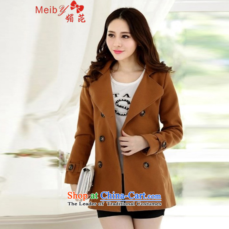 Maximum number of ladies meiby to intensify the autumn and winter new Korean citizenry elegant thick a wool coat jacket in gross? Long Large cloak 926 and color�L