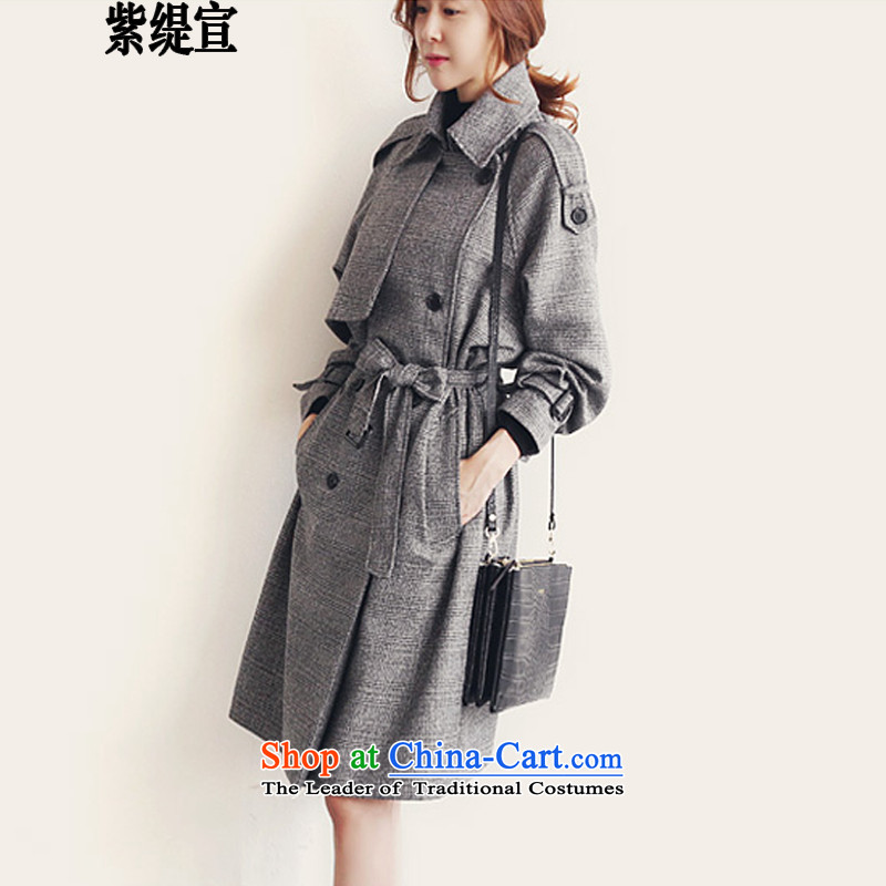 The first declared to economy xl female England autumn and winter new stylish medium to long term of leisure windbreaker female coats 8139_ Gray 2XL around 922.747 Paras. 135-145