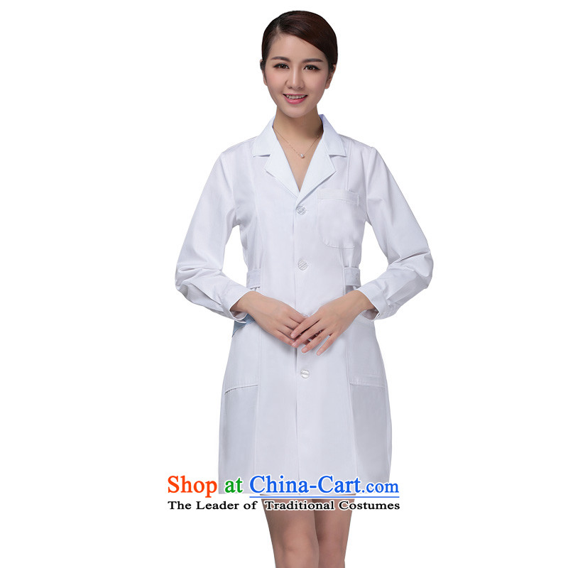 Ducept Nga Fall_Winter Collections long-sleeved male doctors to serve women interns white gowns nurse uniform white uniforms work pharmacies聽XXL
