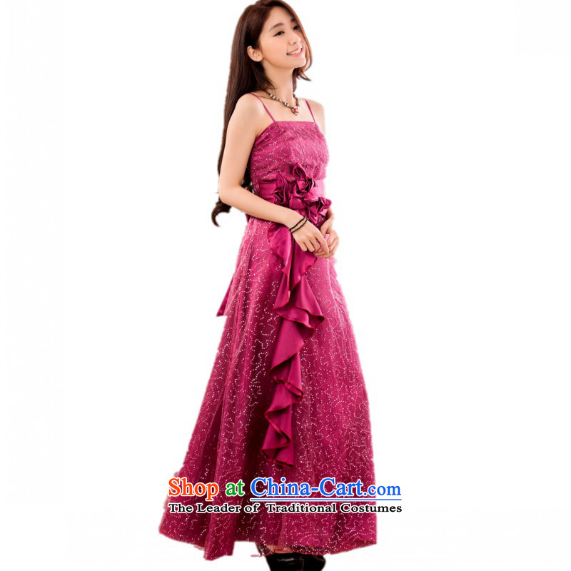 C.o.d. package mail us NPC for thick evening dresses dresses 2015 new super star on chip slips, declares show long skirt purple will approximately 90-120 catty