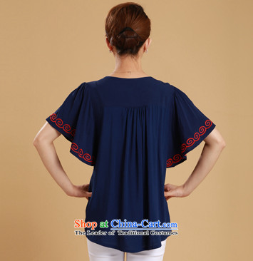 The sea route take the Korean version of the new embroidered chicken tacit horn cuff pure cotton shirt female Summer 2015 relaxd larger shirt 5C1073 White2XL Photo, prices, brand platters! The elections are supplied in the national character of distribution, so action, buy now enjoy more preferential! As soon as possible.