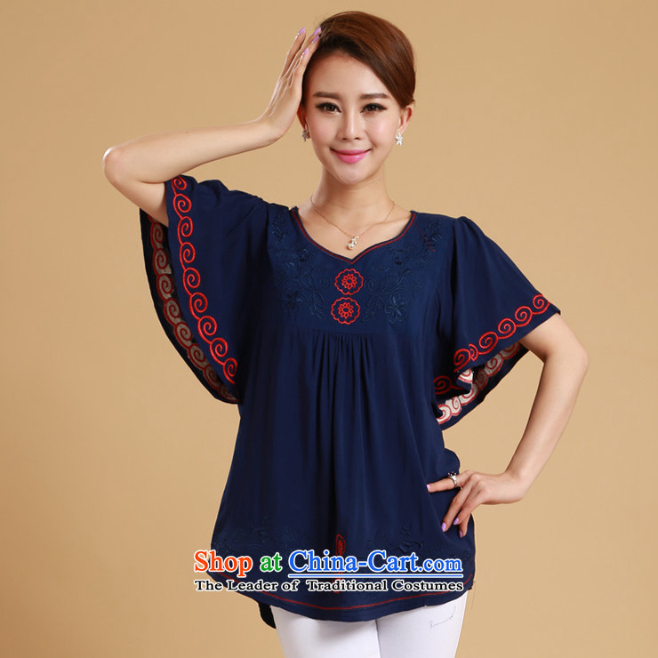 The sea route take the Korean version of the new embroidered chicken tacit horn cuff pure cotton shirt female Summer 2015 relaxd larger shirt 5C1073 White 2XL Photo, prices, brand platters! The elections are supplied in the national character of distribution, so action, buy now enjoy more preferential! As soon as possible.