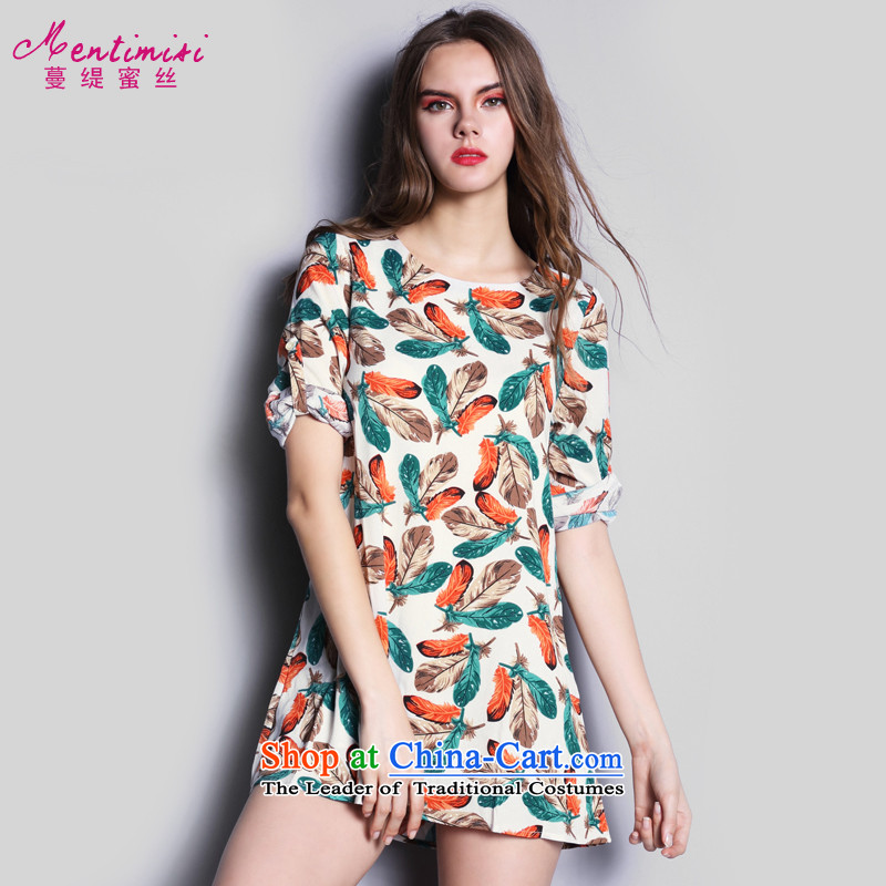 Overgrown Tomb economy honey population at the European Women's code for summer 2015 MM thick western style temperament chiffon dresses short skirts�23爌icture color�L