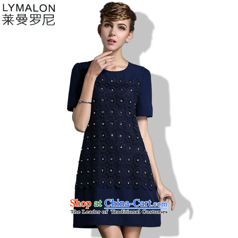 The lymalon lehmann thick, Hin thin Summer 2015 mm thick large wild women to intensify the loose short-sleeved dresses燲XXL color photo 1837