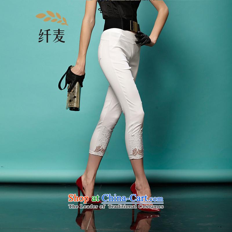 The former Yugoslavia Migdal Code women 2015 Autumn replacing new stylish Korean mm thick tight video thin Capri 951093689 White�L