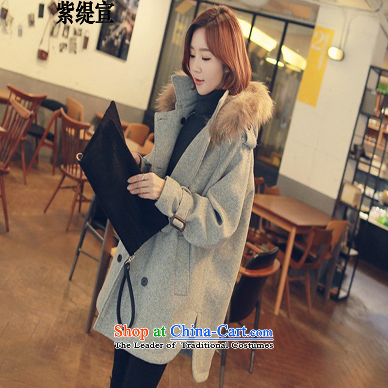 The first declared to Europe and the United States economy larger women in mm thick long thin hair? coats graphics for information about gross燣Y900_ gray�L jacket around 922.747 150 - 160131