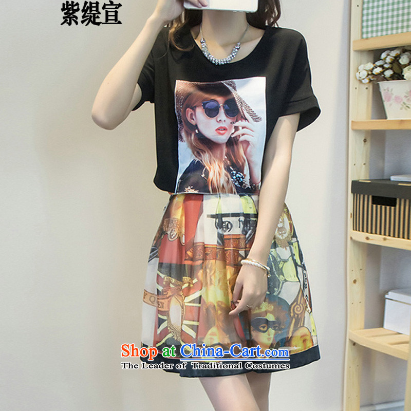 The first declared as thick mm to increase female Korean version of code for summer new stylish two kits loose T-shirt t-shirt + upper body�19_ skirt around 922.747 paras. 135-145 2XL