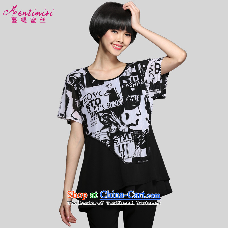 Overgrown Tomb Honey's code as women's Summer 2015 new product expertise MM stylish England wind wild beauty video T-shirt燤1345 thin爌icture color燲L