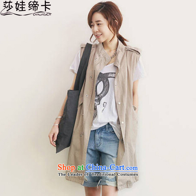 Elisabeth wa concluded card stylish xl female autumn blouses thick girls' graphics, replace the autumn thin vest to xl female clothes 200 catties, a large number of female khaki are?95-200 code can penetrate catty
