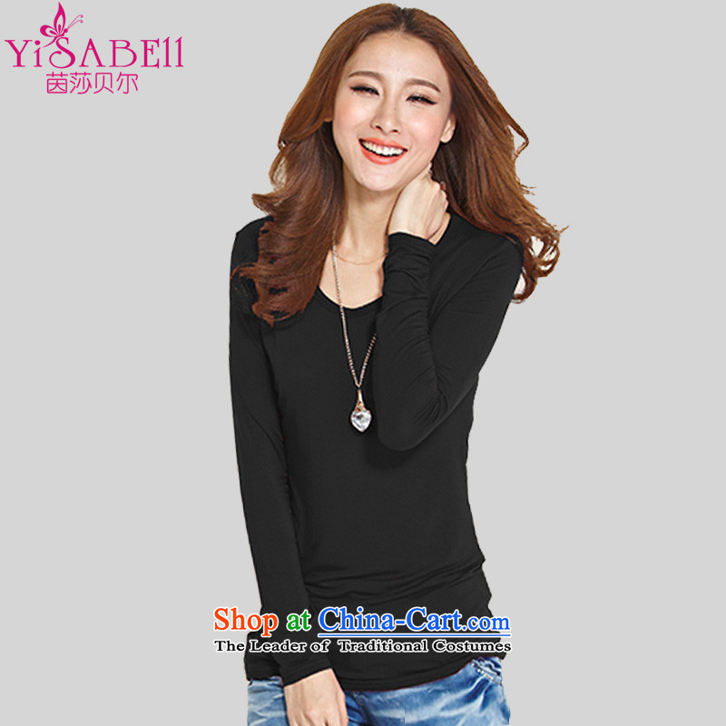 Athena Chu Load Isabel new xl women's long-sleeved T-shirt thick mm wild leisure shirt for business graphics Sau San thin long forming the Netherlands1180Black4XL_ recommendations 160-175 catties_