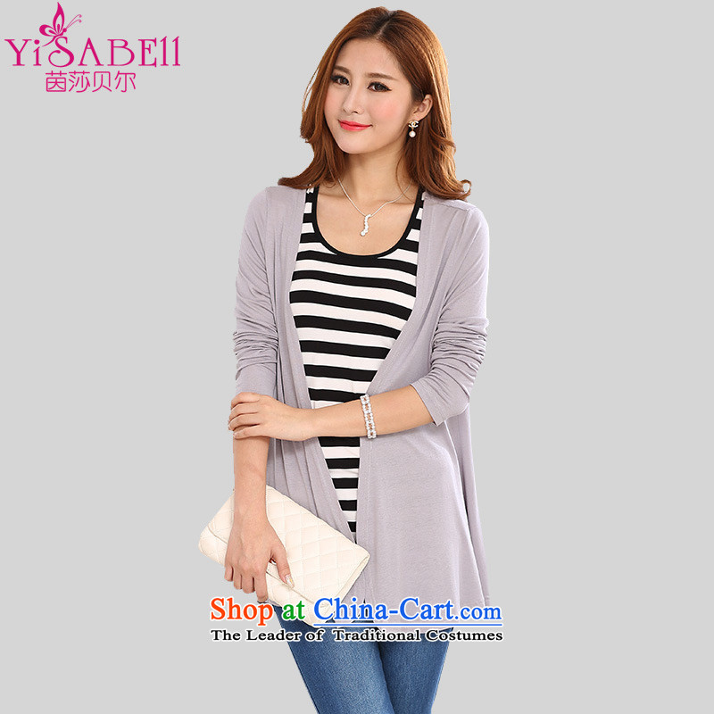 Athena Chu Load Isabel new graphics thin xl female Cardigan Knitted Shirt is simple and stylish in Ms. long mantle air-conditioning sunscreen wear T-shirt�21牋recommendations 170-185 5XL_ gray catties_