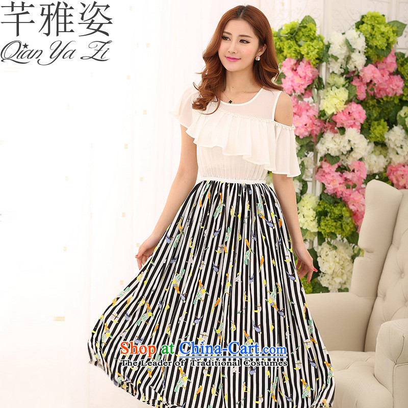 The Constitution of 2015, Hazel new summer Bohemia long skirt streaks stamp chiffon skirt the ventricular hypertrophy code OL omelet Pearl Beach for Sau San dresses white without pop-please refer to chest data option Oh