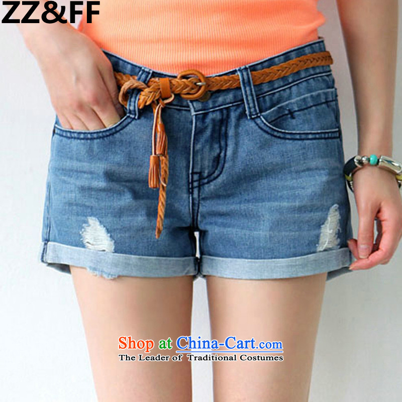 The new 2015 Zz_ff summer won 200 catties larger female thick edges jeans leisure MM shorts Hot Pants color燲XXXXL picture