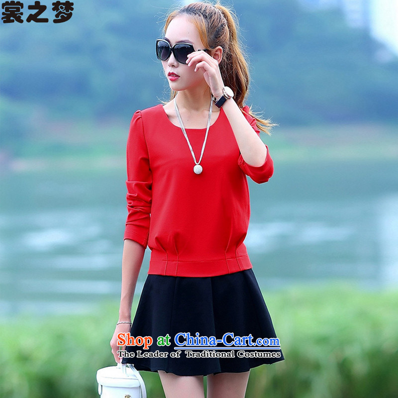 The Advisory Committee's dream of autumn 2015 new stylish skirts Sau San two kits small incense wind short skirt Kit 9480 Red Kit female?L