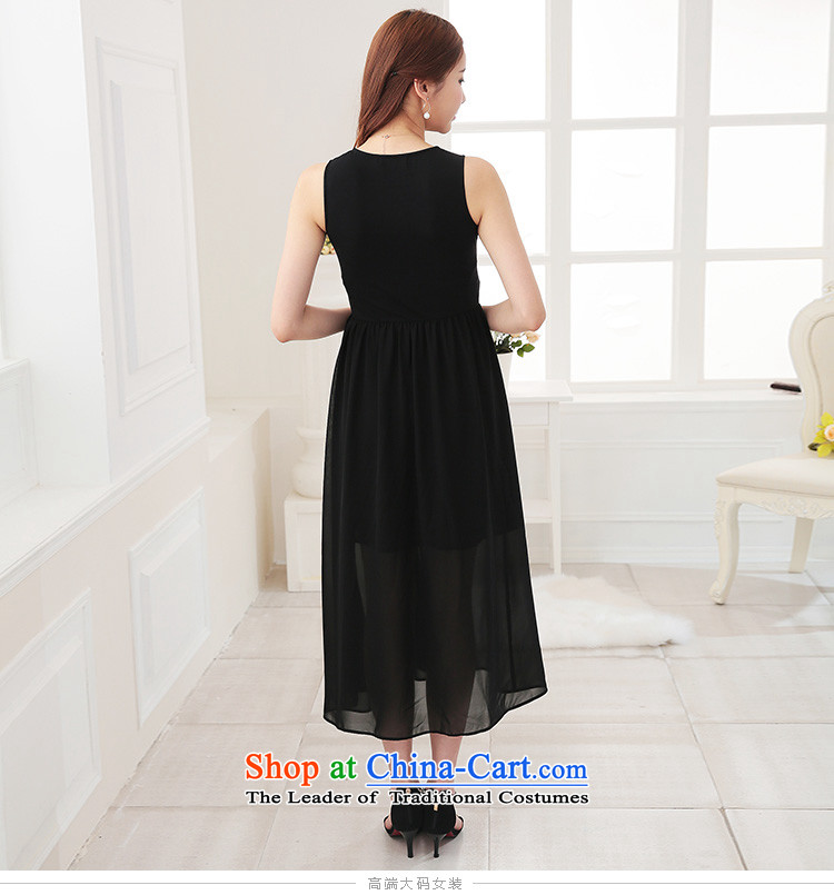 As provided for large female thick MM summer new Korean version thin round-neck collar solid thick sister xl dresses 2 705 BlackXL Photo, prices, brand platters! The elections are supplied in the national character of distribution, so action, buy now enjoy more preferential! As soon as possible.