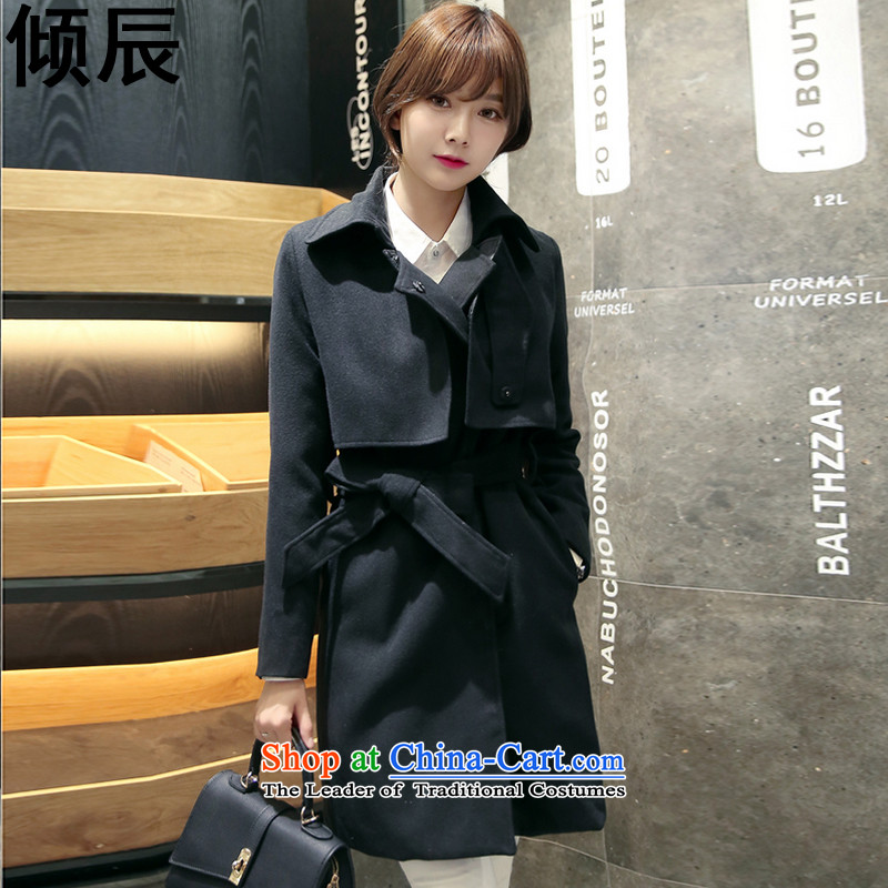 The Dumping e 2015 Autumn replacing New Sau San video in the tether strap thin long hair? a jacket coat female�5燘lack� S