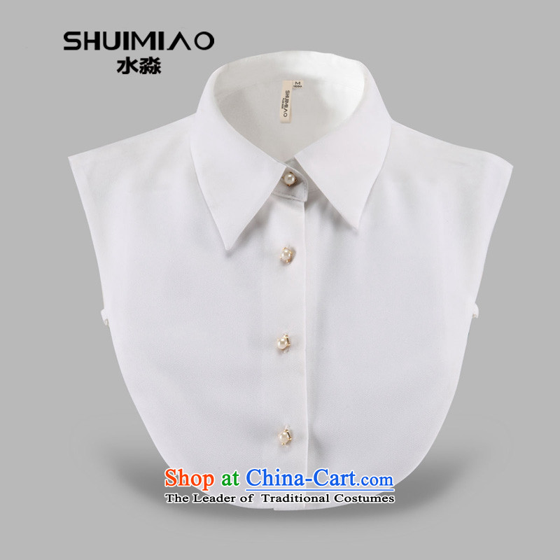 Water by minimalist wild shirt neck shirt neck shirt collar angle dolls leave for cosmetic collar S15LJ008�L White