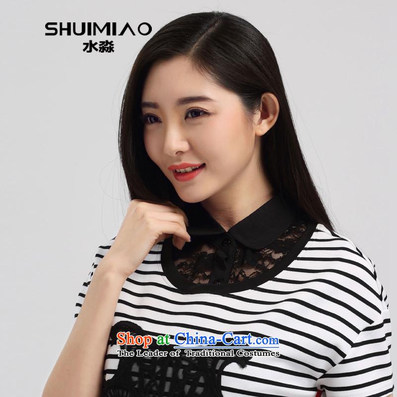 The representative of the water for larger women 2015 new shirt collar up false lace shirt collar wild false collar S15LJ007 blackXXL