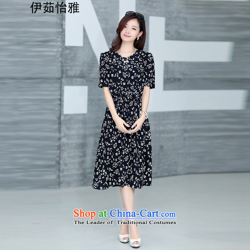 El-ju Yee Nga�15 Summer new Korean version of video thin pieces thick spend long skirt larger women's dresses YJ73382燲XXXL accented characters
